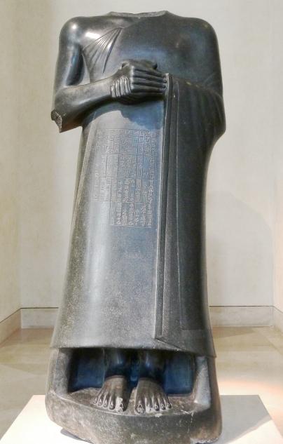 Statua di Gudea dedicata alla dea Ninhursag, 2120 a.C. © Musée du Louvre