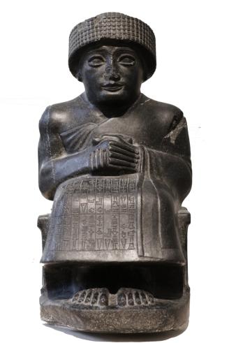 Statua raffigurante Gudea (2125-2110 a.C. circa), Museo del Louvre